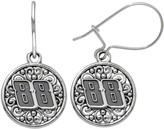 """Insignia Collection NASCAR Dale Earnhardt Jr. Stainless Steel """"88"""" Drop Earrings"""