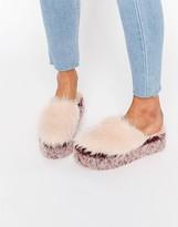 Jeffrey Campbell Faux Fur Platform Mules