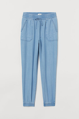 H&M Lyocell Utility Joggers - Blue