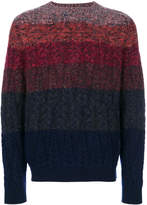 Missoni gradient striped cable knit sweater