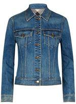 Burberry Check Lined Denim Jacket