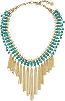 Nakamol Beaded Statement Fringed Choker Necklace, Turquoise