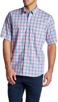 Tailorbyrd Coolidge Short Sleeve Plaid Trim Fit Woven Shirt