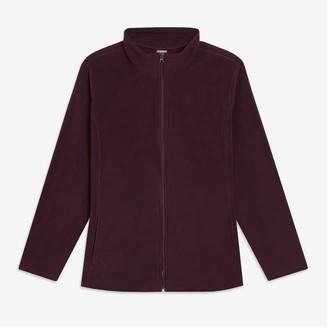 Joe Fresh Women+ Fleece Jacket, Cream (Size 2X)