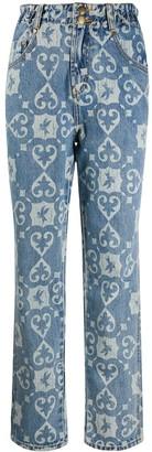One Teaspoon Bleach Print Jeans