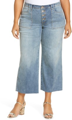 NYDJ Teresa Exposed Button Ankle Wide Leg Jeans