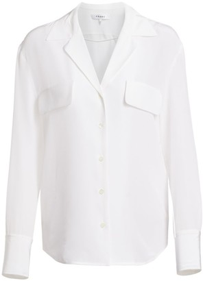 Frame Pocket Silk Button-Down