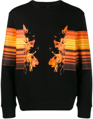 Neil Barrett Flame Print Sweatshirt