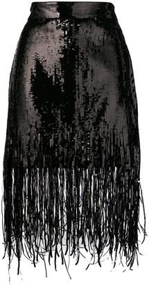 MSGM Sequin Fringed Skirt