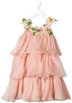 Dolce & Gabbana Floral Ruffle Dress