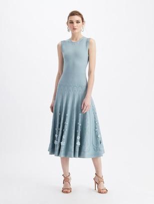 Oscar de la Renta Full Skirt Knit Dress