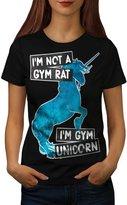 Gym Unicorn Stamina Power Magic Women NEW XXL T-shirt | Wellcoda