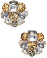 Kate Spade Gold-Tone Multi-Stone Cluster Stud Earrings