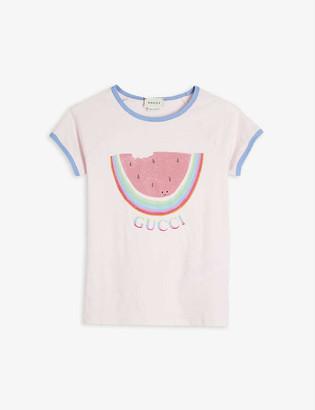 Gucci Watermelon-print cotton T-shirt 4-12 years