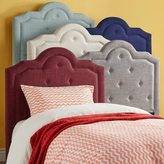 Inspire Q IQ KIDS Harper Tufted High-arching Linen Upholstered TWIN-size Headboard