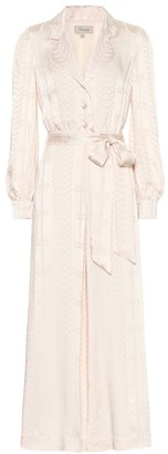 Temperley London Erika satin-jacquard jumpsuit