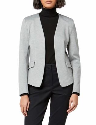 Meraki Amazon Brand Women's Collarless Stretch Jersey Comfort Blazer