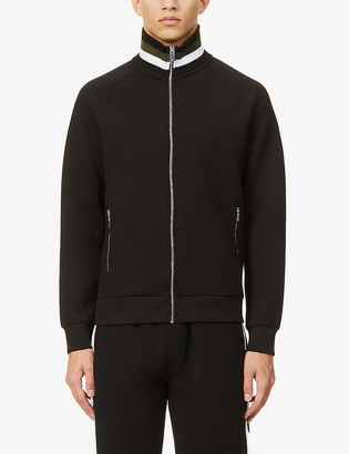 Reiss Jessy striped-collar woven zip-through jacket
