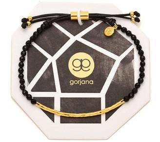 Gorjana Power Gemstone Black Onyx Bracelet for Protection, Gold