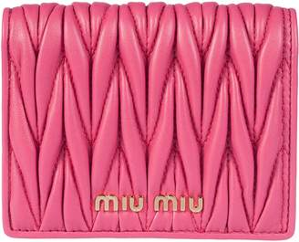 Miu Miu Quilted French Wallet