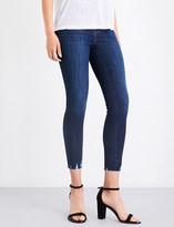 J Brand Alana distressed skinny high-rise jeans