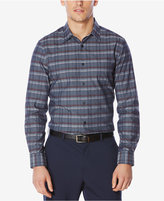Perry Ellis Men's Heathered Plaid Shirt