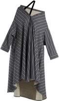 Palmer Harding PALMER/HARDING Off-the-shoulder striped cotton-blend dress