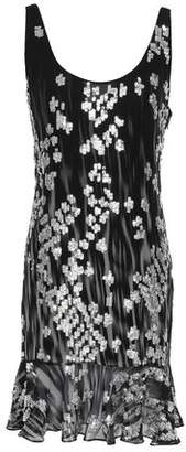 Just Cavalli Fluted Sequin-embellished Georgette Mini Dress