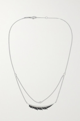 Stephen Webster + Net Sustain Magnipheasant 18-karat Recycled White Gold Diamond Necklace - one size
