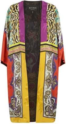 Etro Patchwork Print Coat