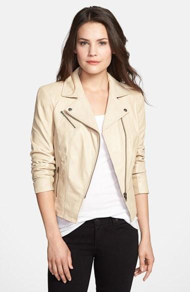 Halogen Leather Moto Jacket (Regular & Petite)