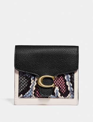 Coach Tabby Small Wallet With Snakeskin Detail