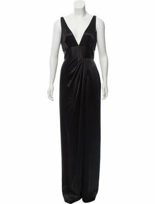 Naeem Khan Silk Evening Gown Black