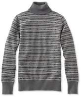 L.L. Bean Cotton/Cashmere Sweater, Turtleneck Fair Isle
