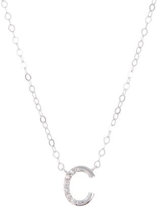 Ron Hami 14K White Gold Letter Pendant Necklace