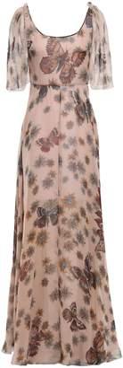Valentino Floral-print Silk-chiffon Gown