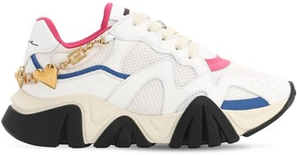 Versace 40MM SQUALO MESH & LEATHER SNEAKERS