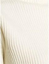 Wunderkind Cream Wool Ribbed Turtleneck