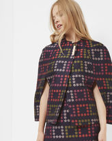 Ted Baker Horticultural Check cape