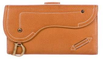 Christian Dior Leather Continental Wallet