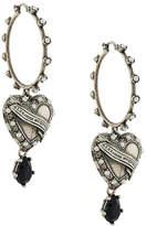 Alexander McQueen heart locket earrings