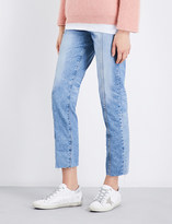 AG Jeans The Phoebe straight mid-rise jeans
