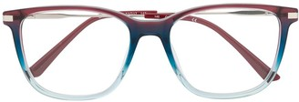 Calvin Klein Two-Tone Square-Frame Glasses
