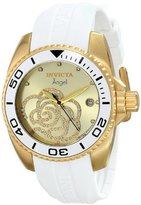 """Invicta 'Limited Edition' Women's ILE0488ASYB """"Angel"""" 18k gold Ion-Plated Casual Watch"""