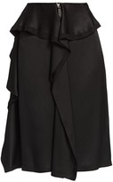 Burberry Martia Ruffle Trim Silk Skirt