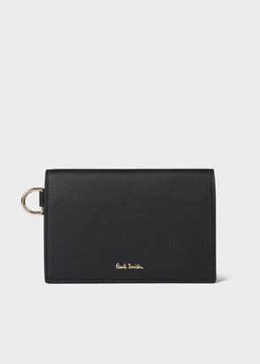 Paul Smith Women's Black Medium Tri-Fold Leather Wallet