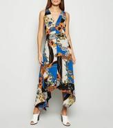 New Look AX Paris Scarf Print Midi Dress