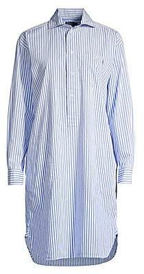 Polo Ralph Lauren Women's Striped Cotton Shirt Dress - Size 0