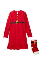 Petit Lem Mrs. Claus Nightgown & Sock Set (Little Girls)