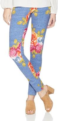 Slim Sation SLIM-SATION Women's Floral Print Ankle Legging